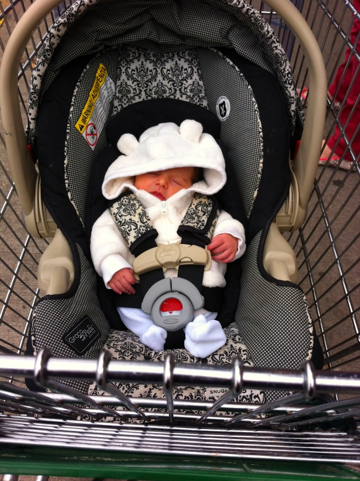 I slept through my first shopping trip